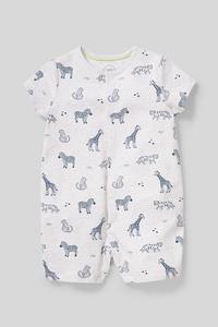 C&A Baby-Schlafanzug-Bio-Baumwolle, Grau, Größe: 92