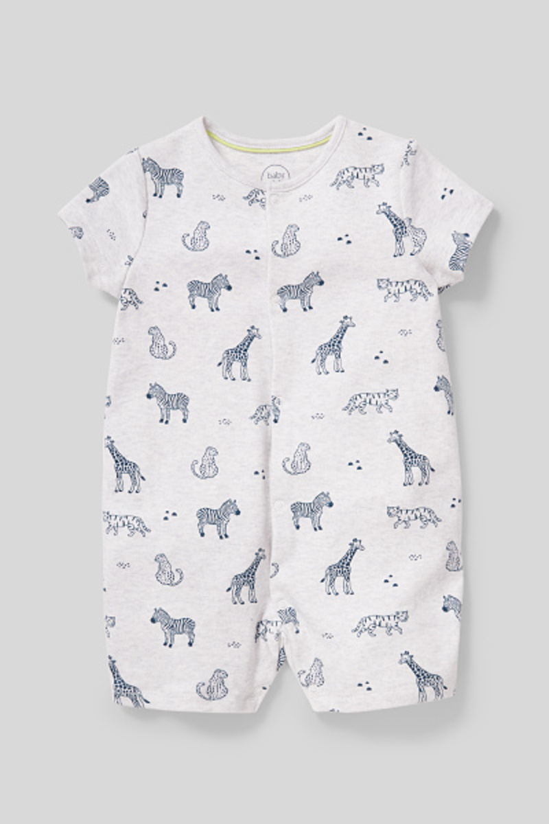 Bild 2 von C&A Baby-Schlafanzug-Bio-Baumwolle, Grau, Größe: 92