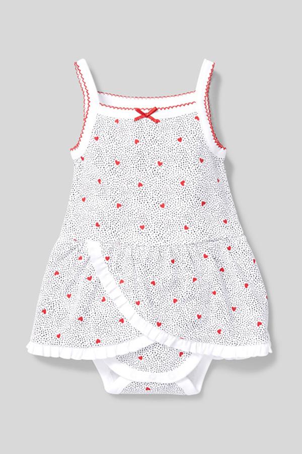 C&A Baby-Schlafanzug-Bio-Baumwolle-gepunktet, Weiß, Größe: 92