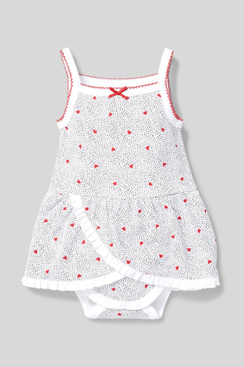 Bild 2 von C&A Baby-Schlafanzug-Bio-Baumwolle-gepunktet, Weiß, Größe: 92