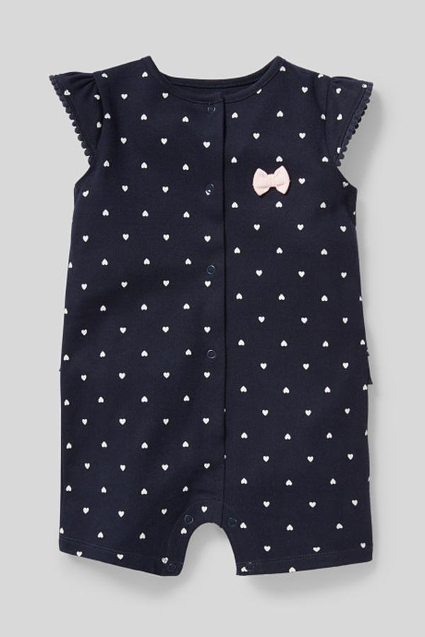 C&A Baby-Schlafanzug-Bio-Baumwolle, Blau, Größe: 92
