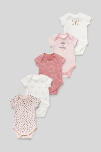 C&A Baby-Body-Bio-Baumwolle-5er Pack, Rosa, Größe: 68
