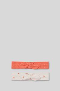 Baby-Haarband - Bio-Baumwolle - 2er Pack - gepunktet