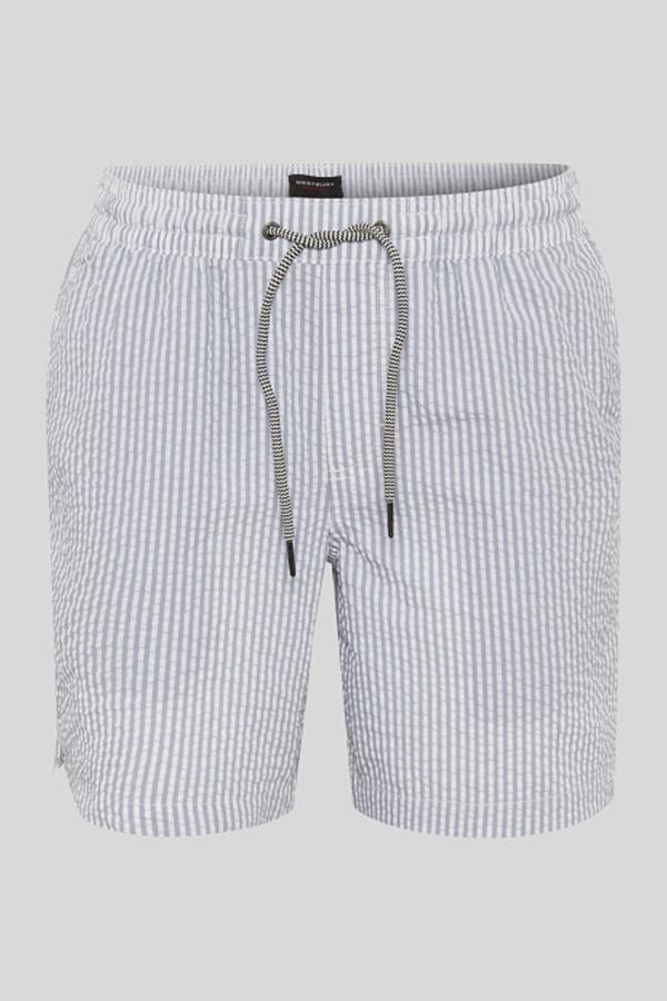 C&A Badeshorts-gestreift, Weiß, Größe: 3XL