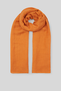 C&A Schal-Leinen-Mix, Orange, Größe: 1 size