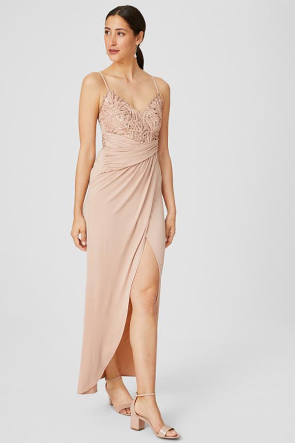 C A Lipsy Kleid Glanz Effekt Festlich Rosa Grosse 36 Von C A Ansehen