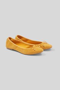 C&A Veloursleder-Ballerinas, Braun, Größe: 40