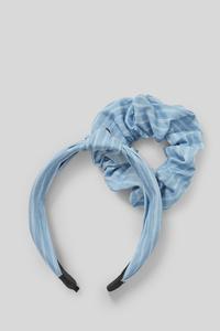 Set - Haarreif und Haarband - gestreift