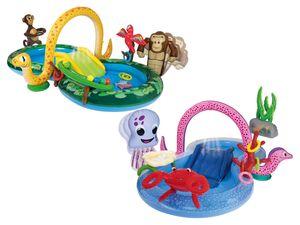 PLAYTIVE® JUNIOR Kinder Erlebnispool, mit Wassersprüher und Rutsche, ab 2 Jahren