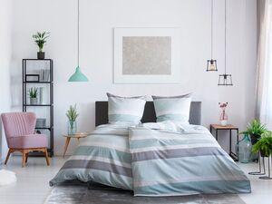 Dobnig Satin Bettwäsche »Querstreifen«, 135x200 cm oder 155x220 cm, aus Baumwolle