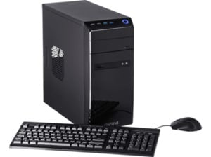 CAPTIVA POWER-Starter I48-616, Desktop PC, Celeron® Prozessor, 16 GB RAM, 960 GB SSD, Intel® UHD-Grafik 610, Schwarz