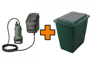 Bosch Akku-Tauchpumpe GardenPump 18 Aktions-Set inkl. 200 Liter Regentonne