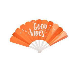 Fächer Good Vibes, L:18cm orange