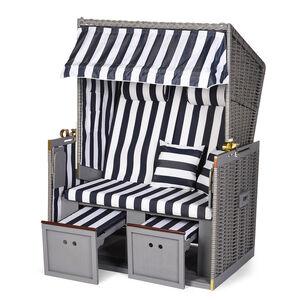 Strandkorb, 2-Sitzer, B:120cm x H:160cm , grau