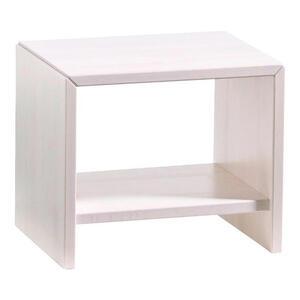 Hasena Nachtkästchen buche massiv lasiert weiß  , Woodline , Holz , massiv,massiv,massiv , 45x38x35 cm , lasiert,Echtholz , 001972026930
