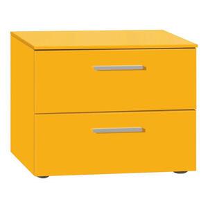 Xora Nachtkästchen lackiert orange  , Garda , 2 Schubladen , 50x41x41 cm , lackiert , 002347004831