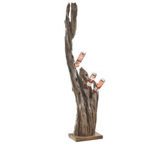 Landscape Flaschenhalter , W103 , Naturfarben , Holz , Teakholz , massiv , 30x180x30 cm , gewachst, Natur,Echtholz , 002766003301