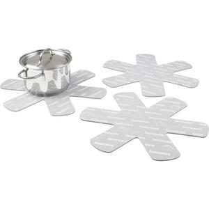 Homeware Pfannenschutz 38 cm  , Pfannenschutzset - 3- Teilig , Creme , Textil , Filz , schützt vor Kratzern , 0084410015