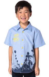 Kinder Kurzarmhemd von ZAB kids blau Gr. 140/146 Jungen Kinder