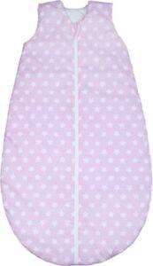 Ganzjahres-Schlafsack , white stars candy pink Gr. 90cm
