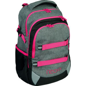 """Neoxx Schulrucksack Active """"Pink and Famous"""", 2-tlg., grau/pink"""