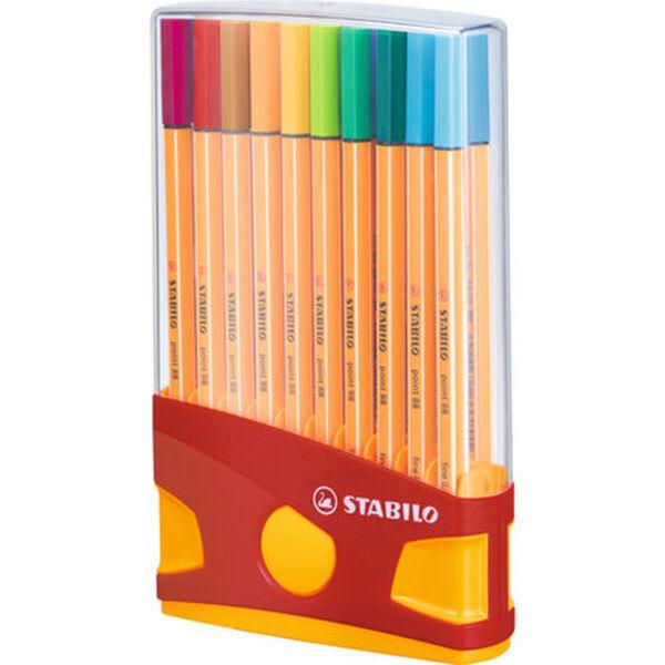"Stabilo Fineliner ""Point 88 ColorParade"", 20-teilig, rot/orange"