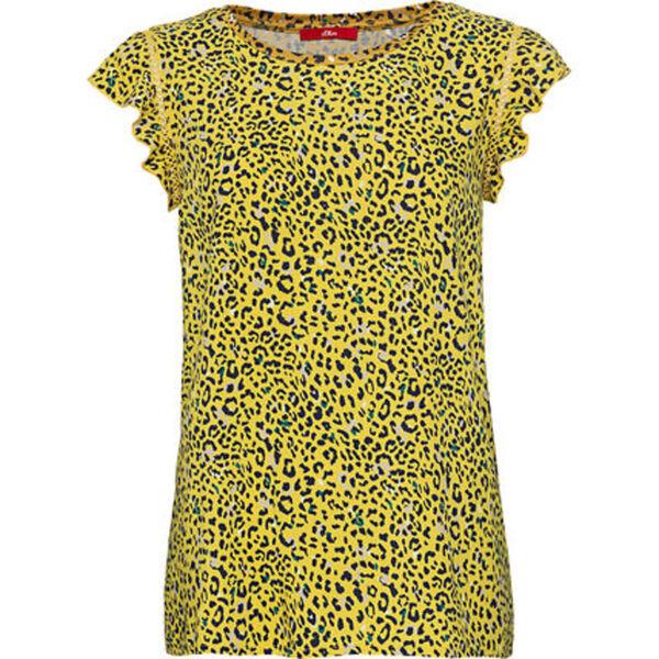 S.Oliver T-Shirt, Flügelärmel, Print, für Damen