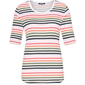 Olsen T-Shirt, High Low-Saum, Ringel, für Damen