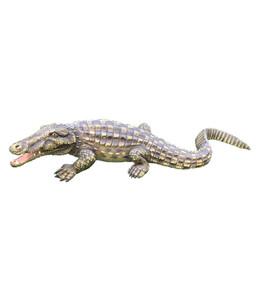 Dehner Polyresin-Krokodil, ca. B84/H18/T33 cm