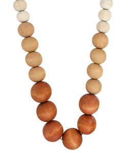 Kette - Wood Pearls