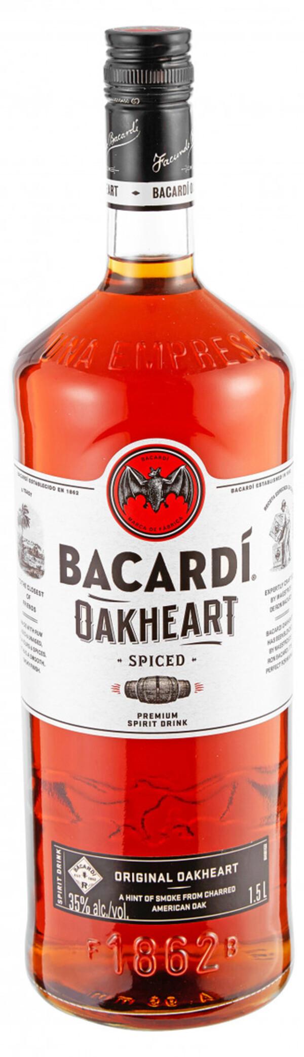Bacardi Oakheart - 1,5 L