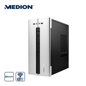 Desktop PC E42020 Akoya · AMD Ryzen• 3 3200G Quad Core (bvis zu 3,6 GHz) · Radeon• Vega 8 Graphics · USB 3.0, USB 2.0, USB 3.2 Gen 2 Type C, USB 3.2 Gen 2 Type A, RJ-45, Display Port, HDMI ·