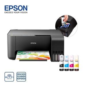 EcoTank ET-L3150 · Tinte im Lieferumfang entspricht ca. 88 Patronen · inkl. Tinte für den Druck von bis zu 4.500/7.500 S. in s/w bzw. Farbe · Randlos drucken bis 10x15 cm, Nachfüllflasche 65 ml