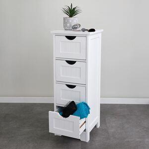 Schrank Maine mit 4 Schubladen 30x81,5x30cm Weiß