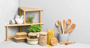 Bambus-Kücheneckregal