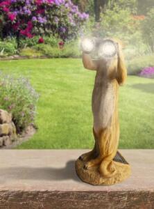 I-Glow LED-Solar-Erdmännchen mit Fernglas