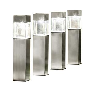 EZSolar LED-Solar-Gartenlampe - 4er Set