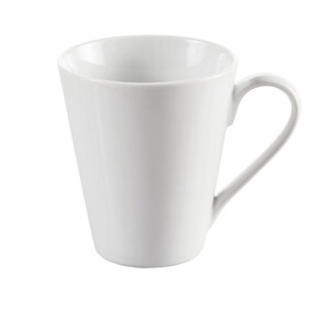 Provida Porzellan Kaffeebecher in Weiß 290 ml