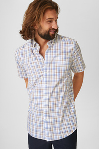 Businesshemd - Regular Fit - Button-down - kariert