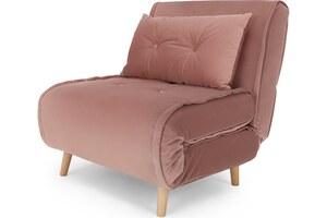 Haru Schlafsessel, Samt in Vintage-Pink - MADE.com