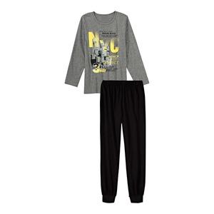 Jungen-Pyjama mit großem Frontaufdruck, 2-teilig