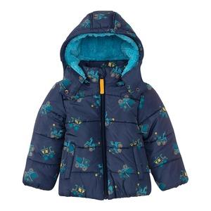 Baby-Jungen-Jacke mit Bagger-Muster