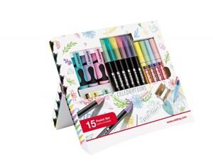 edding Promotion Pastell Set Celebration 15-teilig Textmarker, Fasermaler, Glanzlackmaler