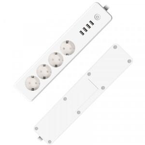 essentials Smart Home 4-fach Steckdosenleiste WiFi 4 USB-Ports, per App steuerbar