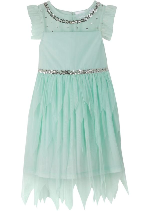 Mädchen Kleid im Meerjungfrauenstil