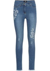 Jeans mit Blumenstickerei