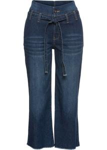 Jeans-Culotte mit Gürtel