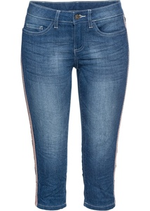 Capri-Jeans mit Nieten