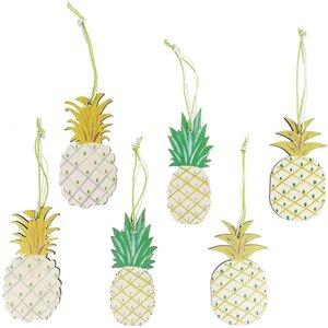 Ananas zum Hängen 6 Stück