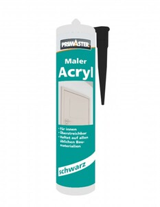 Primaster Maler-Acryl ,  schwarz, 310 ml